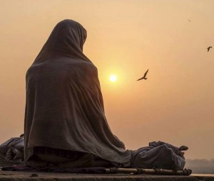 meditating sadhu