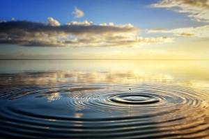 drop into ocean